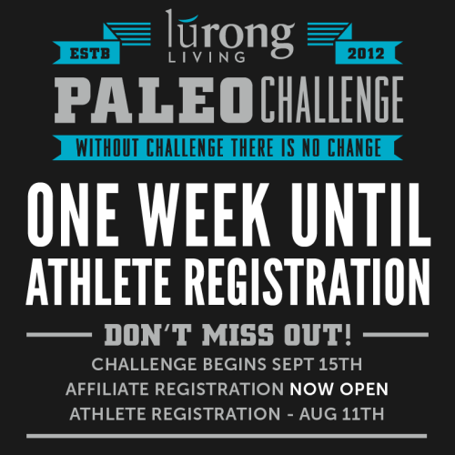 LuRong Paleo Challenge Starting September 15th
